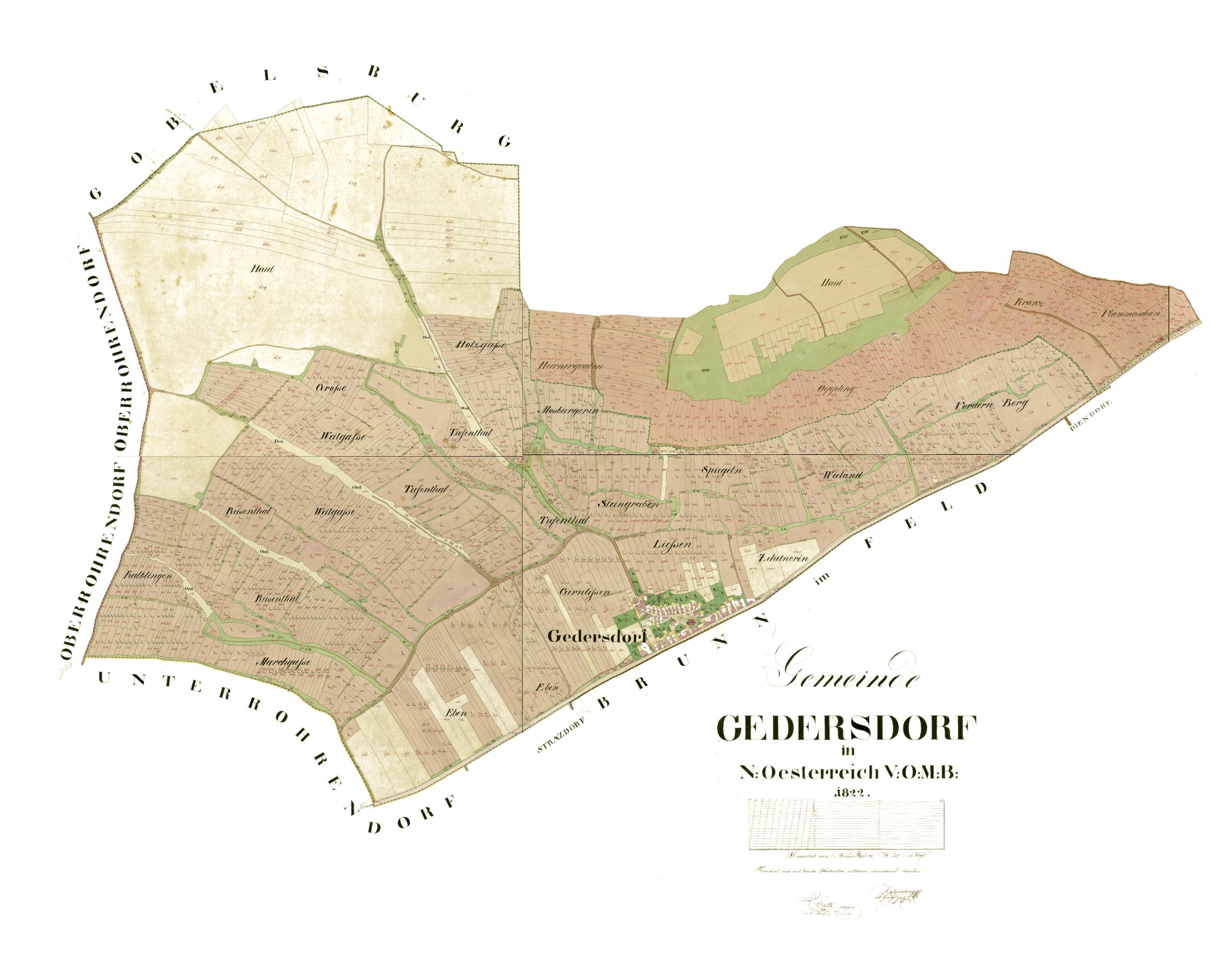 riedenkarte; kataster; tradition; mantlerhof; gedersdorf; brunn im felde; weingut;